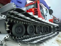 Snowplow. Closeup shot of snowplow used for ski slope preparation Royalty Free Stock Photos