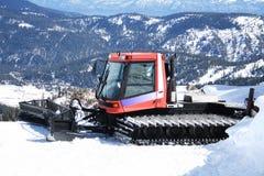 Snowplow atop a mountain Stock Photos