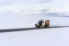Snowplow Clearing The Ring Road Stock Photos