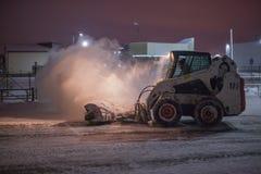 Snowplow Clearingowa droga Zdjęcia Stock