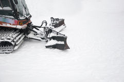 Snowplow. Close up on Snowplow on snow Royalty Free Stock Images