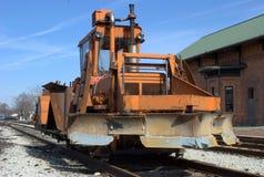 Snowplow da estrada de ferro Fotografia de Stock