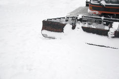 Snowplow. Machine on snow in winter Stock Photos