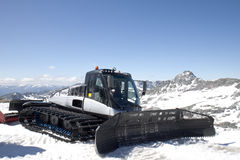 Snowplow at the Molltaler Glacier, Austria Royalty Free Stock Images