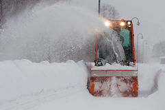 Snowplow. In the mountain of italy Royalty Free Stock Images