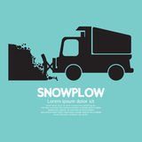 Snowplow Removing The Snow From Road. Vector Illustration stock illustration