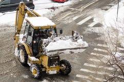 Snowplow samochód Zdjęcie Royalty Free