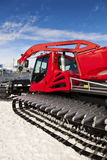 Snowplow in a Ski Resort Royalty Free Stock Image