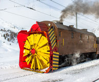 Snowplow steam royalty free stock image