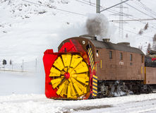 Snowplow steam Stock Images