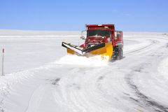 Snowplow Truck royalty free stock photos