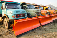 Snowplow Trucks Stock Photography