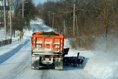 Snowplowing Stock Photography