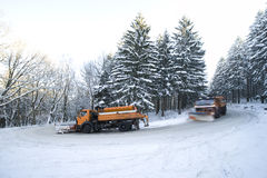 Snowplows Stock Image