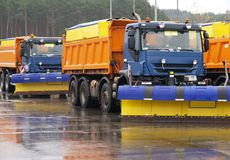 Snowplows Fotografia Royalty Free