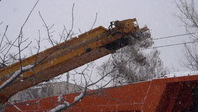 Snowplows stock video footage