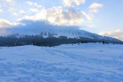 Snowscape на Gulmarg, Кашмире Стоковое Изображение RF