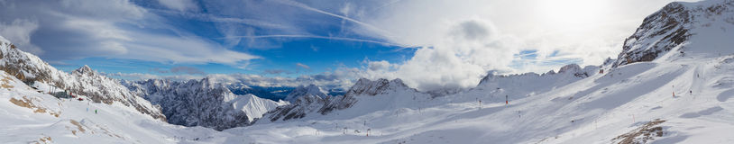 Snowscape Alps obraz royalty free