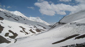 Snowscape on Baralacha Pass Royalty Free Stock Photos