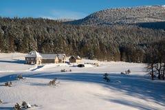 Snowscape cerca de Grenoble francia imagenes de archivo