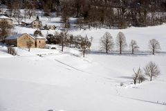 Snowscape close to Grenoble. France Stock Images