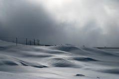 Snowscape ferroviario Imagen de archivo