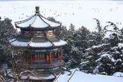 The snowscape of Summer Palace Stock Photo