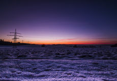 Snowscape. Sunny landscape in the snow royalty free stock image