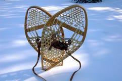 Snowshoe auf Schnee Lizenzfreie Stockfotografie