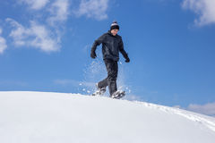 Snowshoe bieg Zdjęcia Royalty Free