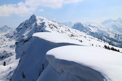 Snowshoe hike to Rippetegg peak. Austria Stock Photography