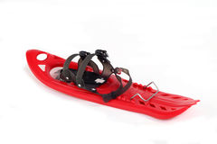 Snowshoe plastic color red. On a white background Stock Photos