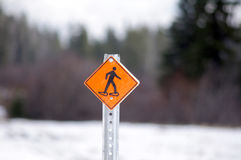 Snowshoe sign Stock Photos