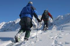 Snowshoe trip Royalty Free Stock Image
