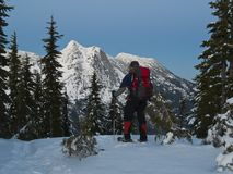 Snowshoe view Stock Photo