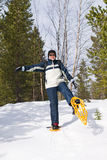 Snowshoeing Obrazy Royalty Free