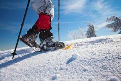 Snowshoeing Stockbild