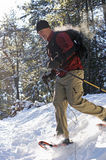 Snowshoeing Стоковое Изображение RF