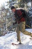 Snowshoeing Στοκ εικόνα με δικαίωμα ελεύθερης χρήσης