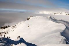 snowshoeing Stockfoto