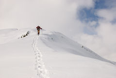 snowshoeing Immagine Stock