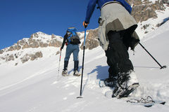 snowshoeing Photos stock