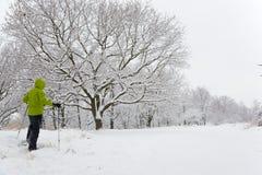 Snowshoeing Royalty Free Stock Photo