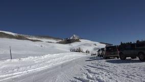 Snowshoeing Adventure Awaits stock footage