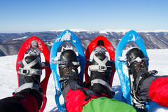 snowshoeing canada fotografii Quebec śniegu snowshoeing karple Obrazy Stock