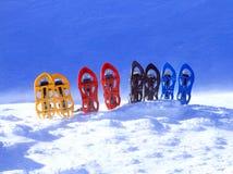 snowshoeing canada fotografii Quebec śniegu snowshoeing karple Fotografia Stock