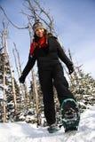 Snowshoeing/deporte de invierno Fotografía de archivo libre de regalías