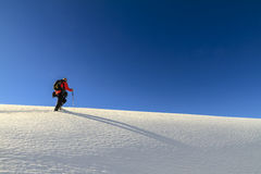 Snowshoeing, Dolomites Stock Photos