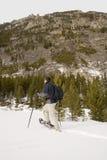 Snowshoeing - il Montana Immagini Stock Libere da Diritti