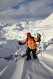 Snowshoeing Stock Photography